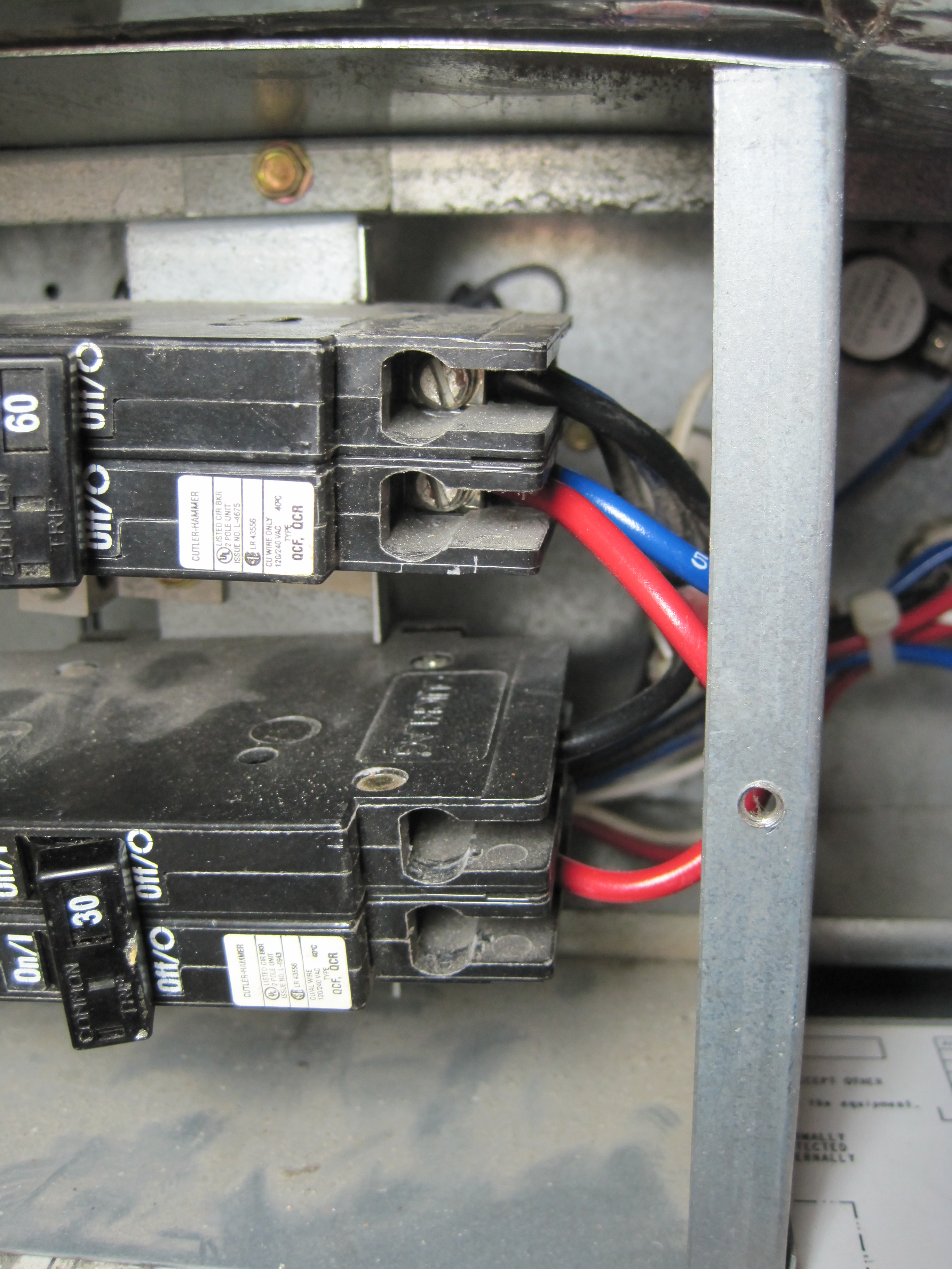 circuit breaker exit wires